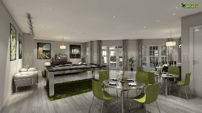 Club House Interior Design Rendering