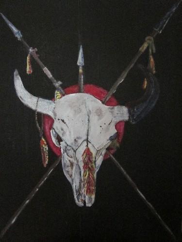 buffalo skull totem