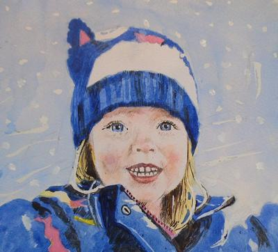 WATERCOLOUR PORTRAIT - £45 A4 SIZE