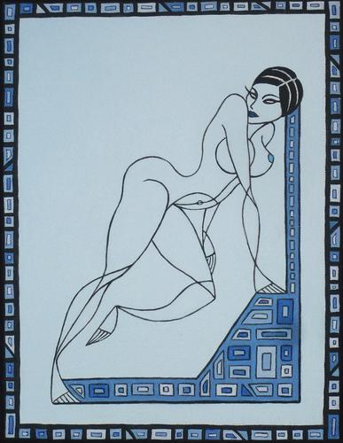 Donna in azzurro (Blue woman)